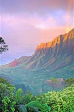 Preview iPhone wallpaper American landscape, mountain sunrise