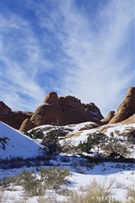 Preview iPhone wallpaper American landscape, snow-capped mountains in winter