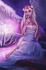 Preview iPhone wallpaper Angel girl purple style