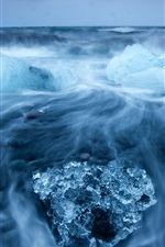 Preview iPhone wallpaper Arctic beauty of the ocean of blue ice