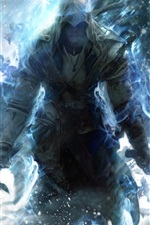 Preview iPhone wallpaper Assassin's Creed 3 blue style