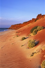 Preview iPhone wallpaper Australian scenery, red coast