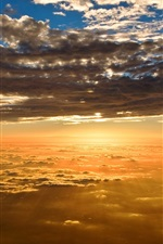 Preview iPhone wallpaper Beautiful scenery, sunset sky clouds