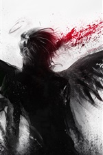 Preview iPhone wallpaper Bleeding of the black angel
