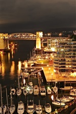 Burrard ponte Vancouver à noite