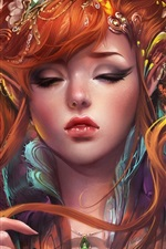 Preview iPhone wallpaper Fantasy elves girl