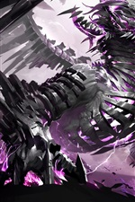 Preview iPhone wallpaper Ferocious dragon, creative images