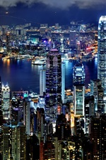 Preview iPhone wallpaper Hong Kong Night