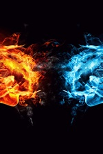 Preview iPhone wallpaper Ice and Fire showdown