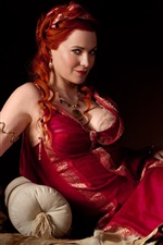 Preview iPhone wallpaper Lucy Lawless in Spartacus: Blood and Sand
