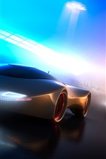 Neon light concept car