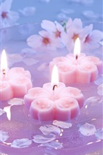 Plum candlelight