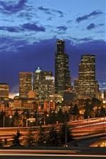 Seattle city night lights