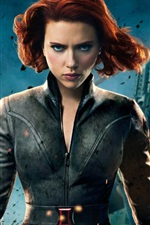 Preview iPhone wallpaper The Avengers 2012, Scarlett Johansson
