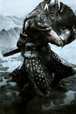 Preview iPhone wallpaper The Elder Scrolls V: Skyrim game HD
