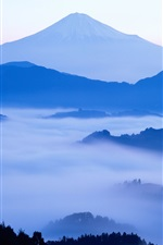 Preview iPhone wallpaper The dawn of Japan's Mount Fuji beauty