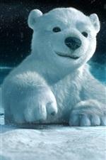 Preview iPhone wallpaper 3D animal paintings, polar bear