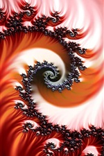 Preview iPhone wallpaper Abstract spiral pattern