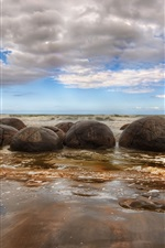 Preview iPhone wallpaper Beach stones