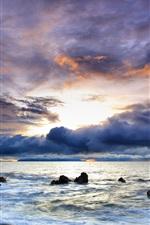 Preview iPhone wallpaper Beautiful colorful ocean sky