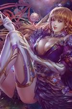 Preview iPhone wallpaper Beautiful fantasy girl magic
