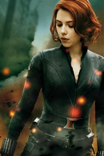 Preview iPhone wallpaper Black Widow in The Avengers 2012