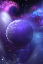 Preview iPhone wallpaper Blue universe, the planet