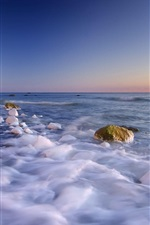 Preview iPhone wallpaper Coastal stone