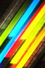 Preview iPhone wallpaper Colorful lines and stars