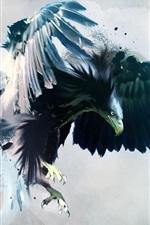 미리보기 iPhone 배경 화면 크리에이 티브 그림, 거대한 독수리