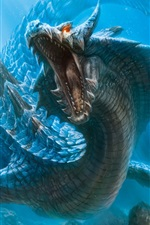 Preview iPhone wallpaper Dragon in the underwater world