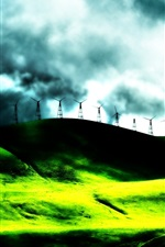 Preview iPhone wallpaper Dream landscape electricity windmill