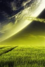 Preview iPhone wallpaper Dream prairie sky