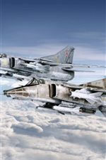 Preview iPhone wallpaper Fighter MiG-27
