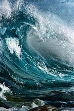 Heavy rain on the eve of the sea waves