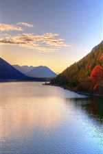 Preview iPhone wallpaper Lake beauty of the autumn season