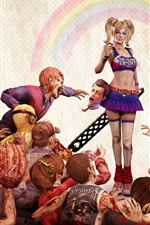 Preview iPhone wallpaper Lollipop Chainsaw game wide