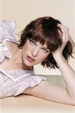 미리보기 iPhone 배경 화면 Milla Jovovich 02