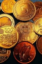 iPhone обои Деньги монеты крупным планом
