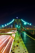 Night city bridge