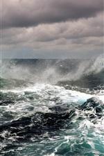 Preview iPhone wallpaper Sea of black skies