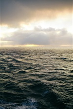 Preview iPhone wallpaper Space of the sea