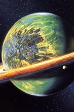 Preview iPhone wallpaper Suffered a collision of planets