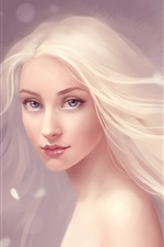 Preview iPhone wallpaper The flowing hair of pure fantasy girl