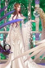 미리보기 iPhone 배경 화면 거룩한 천사 소녀의 날개