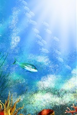 Preview iPhone wallpaper Underwater world corals