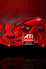 Preview iPhone wallpaper ATI Radeon Graphics abstract ads