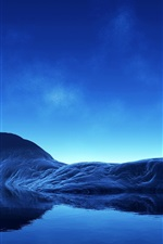 Preview iPhone wallpaper Blue Dream Island