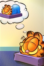 Preview iPhone wallpaper Cartoon star Garfield