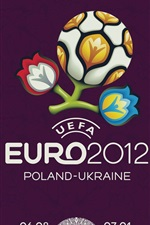 Preview iPhone wallpaper Euro Cup logo 2012